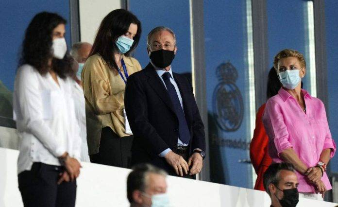 Florentino Perez con mascherina