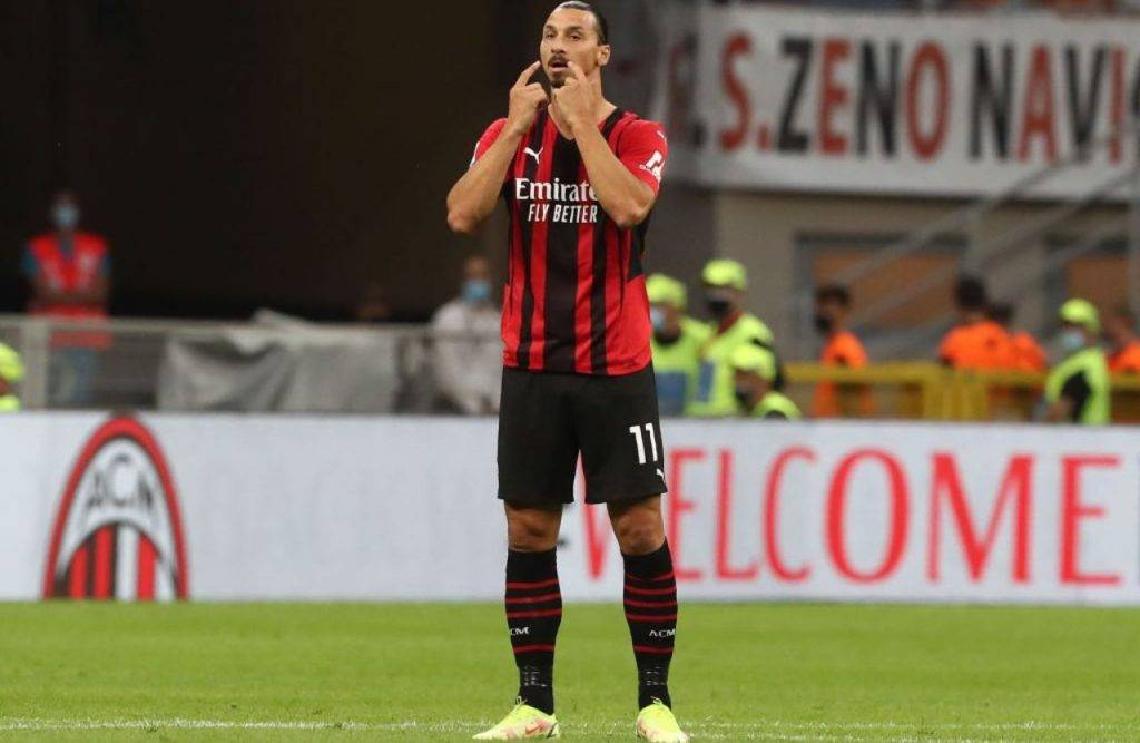 Ibrahimovic durante Milan-Lazio