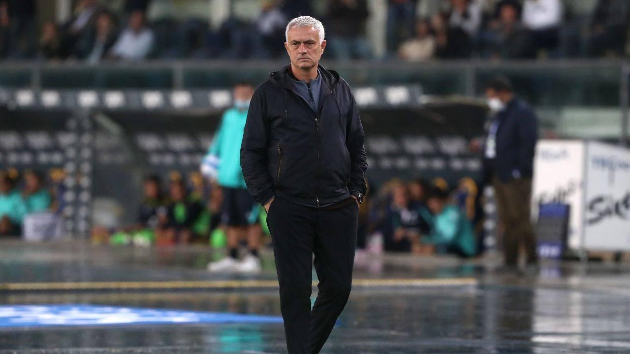 Mourinho preoccupato Roma
