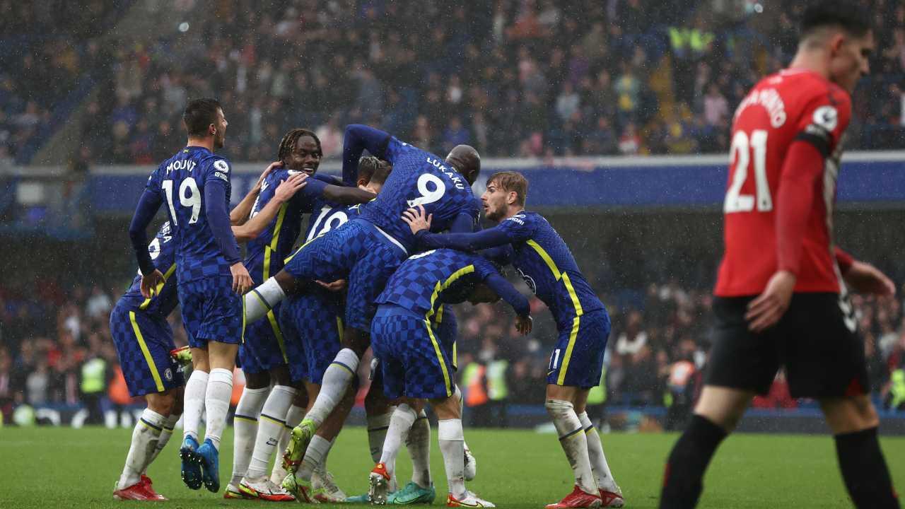 Giocatori del Chelsea esultano