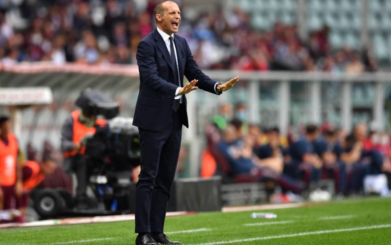 Allegri in Torino-Juventus