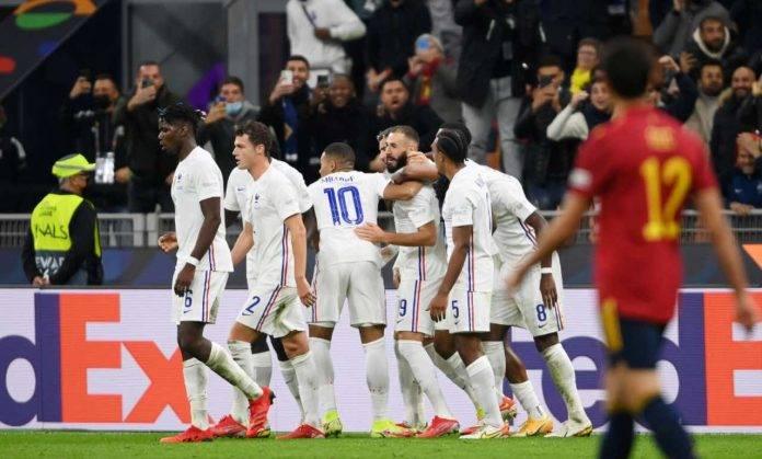 Nations League, Spagna-Francia: il gol di Benzema