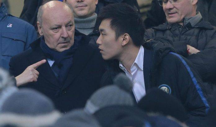 Zhang e Marotta in tribuna stampa