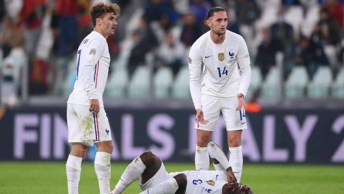 Rabiot in campo contro il Belgio