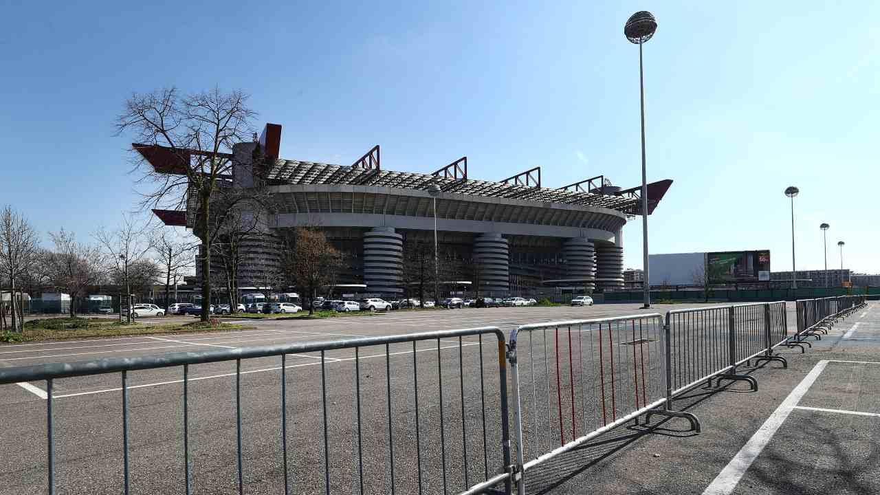 Una vista dall'esterno dello stadio San Siro