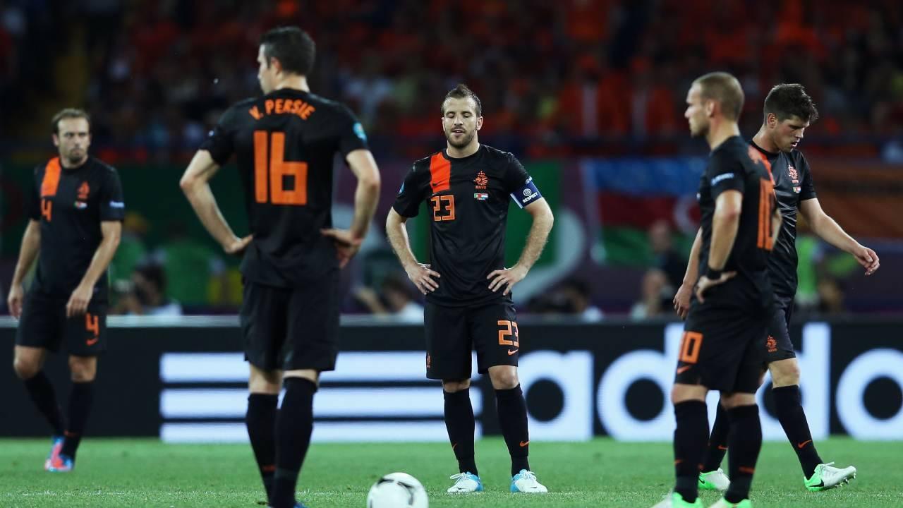 Van der Vaart in nazionale con Snejder, Van Persie e Huntelaar