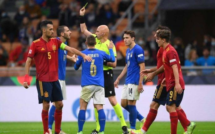 Italia-Spagna, l'espulsione di Bonucci
